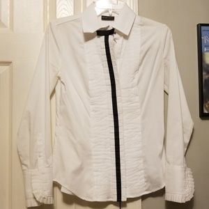 NY&C Black and White Tux Top